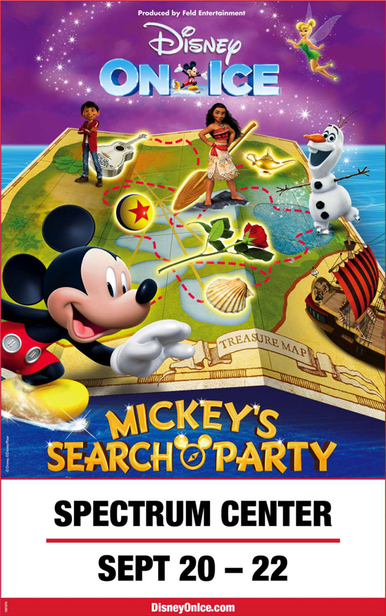 Win a family 4-pack of tickets to Disney on Ice presents Mickey's Search Party from WCCB Charlotte's CW