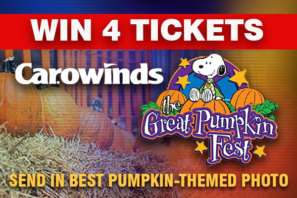 Show us your pumpkins and you could win 4 Carowinds tickets