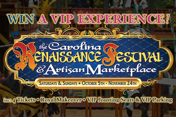 Win a VIP Experience at the Carolina Renaissance Festival from WCCB Charlotte's CW!