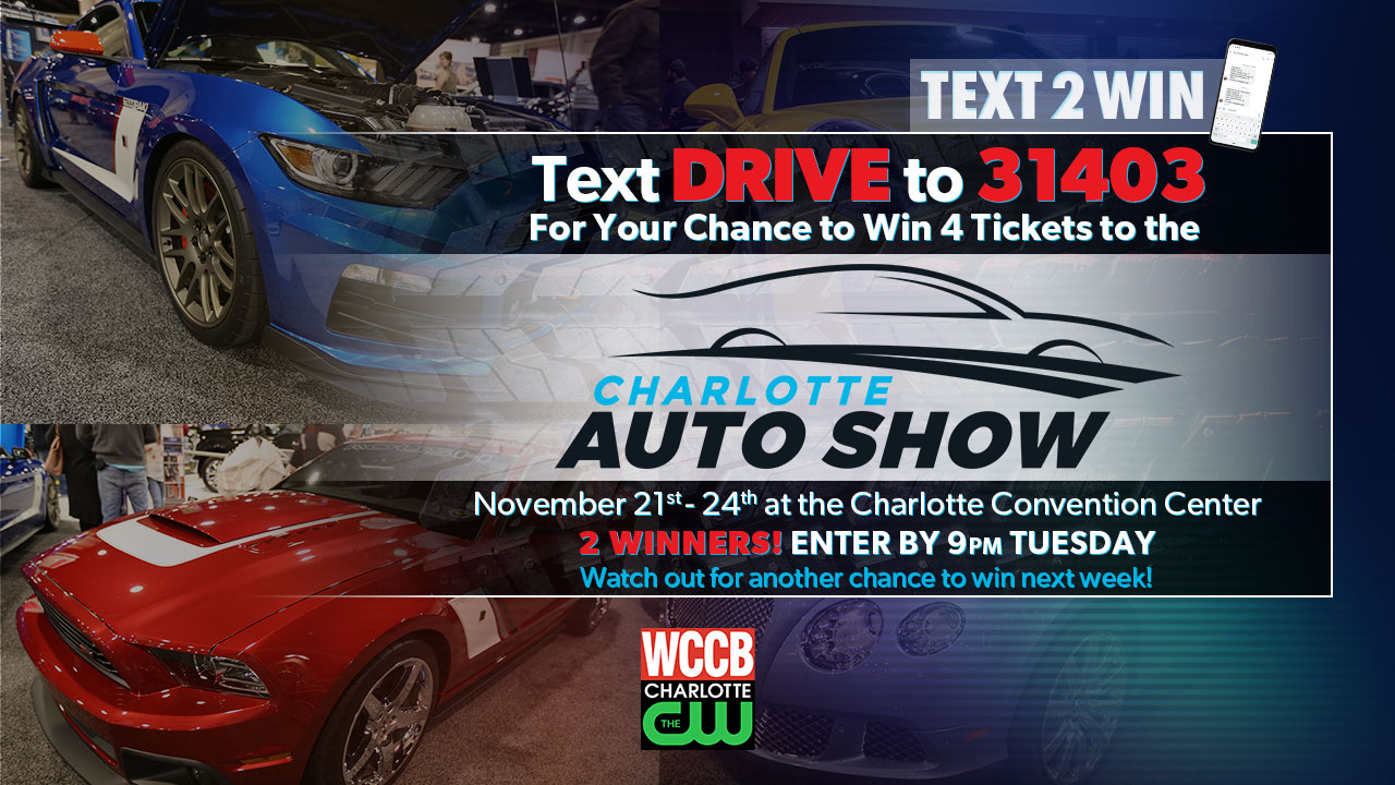 Win tickets to the Charlotte Auto Show from WCCB Charlotte's CW