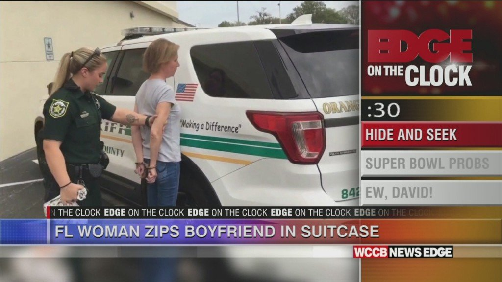 Florida Woman Zips Boyfriend In Suitcase