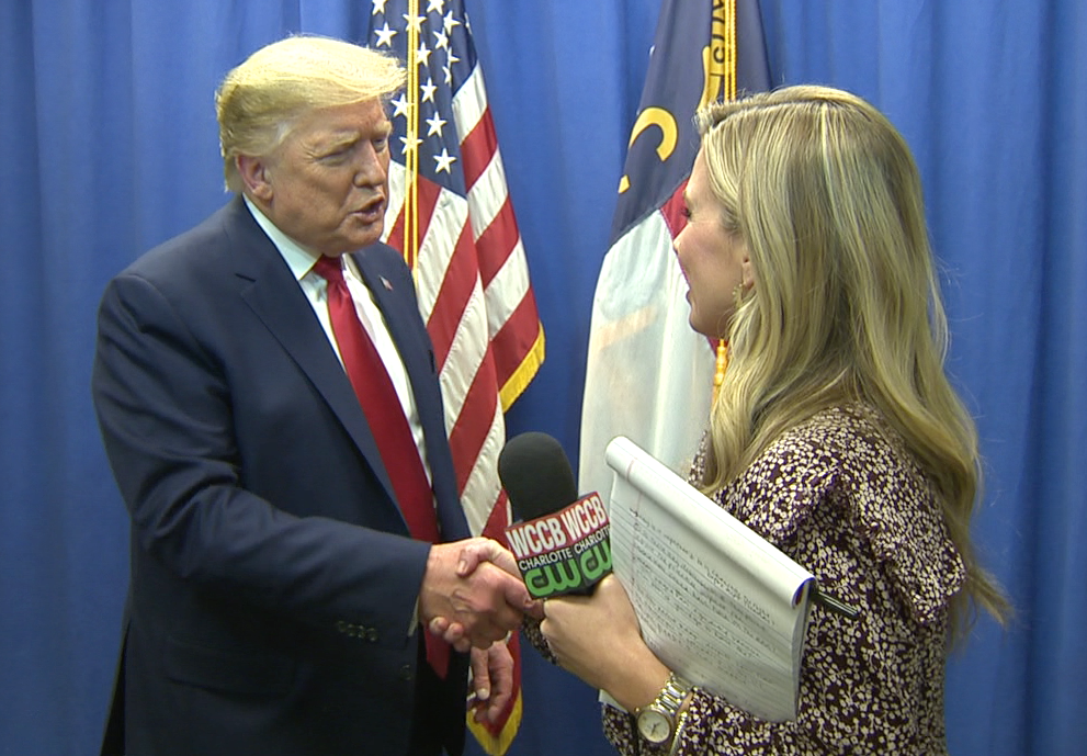 Wccb's Exclusive Interview With President Donald Trump