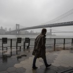 A Man Walks Alone On The Promenade Under The Fdr Drive In Lower Manhattan, March 29, 2020