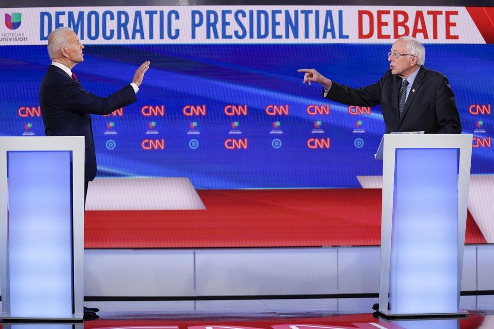 Biden Sanders Debate Ap 01