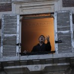 French Tenor Singer Stephane Senechal Sings From His Apartment Window In Paris, March 24, 2020.