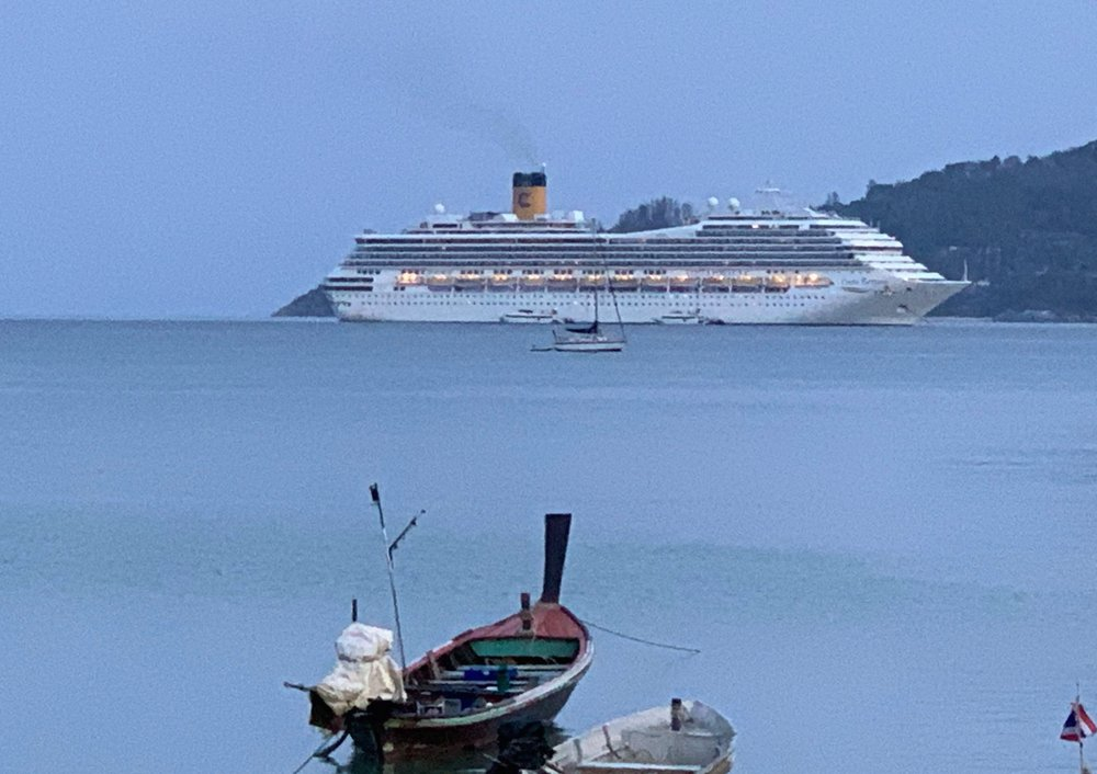 Cruise Ship In Limbo