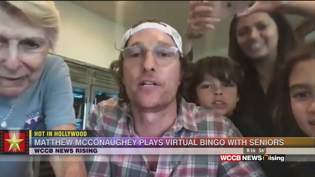 Hot In Hollywood: Matthew Mcconaughey Plays Bingo With Seniors And 'the Nanny' Cast Do Virtual Table Read