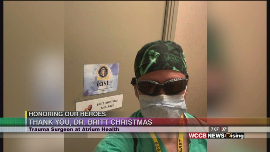Honoring Our Heroes: Atrium Health Honors Dr. Britt Christmas