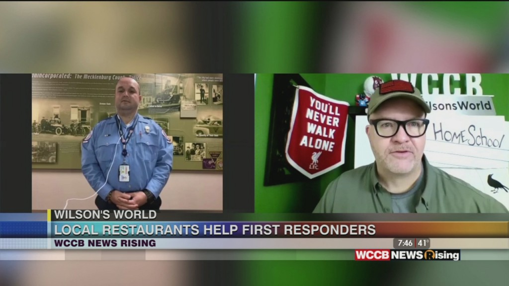 Wilson's World: Introducing Us To Coolvio, A New Charlotte Business And Learning How Area Restaurants Are Supporting Meckelnburg First Responders