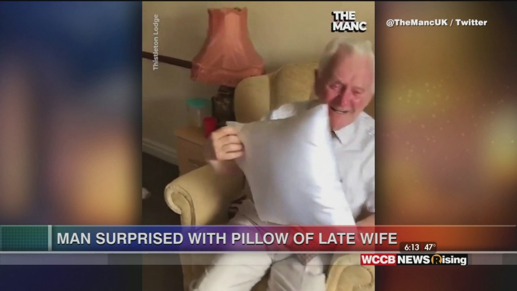 Viral Videos: Treat Race And Man Surprised With Pillow Of Late Wife
