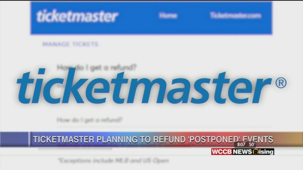 Ticketmaster To Start Issuing Refunds To Postponed Events
