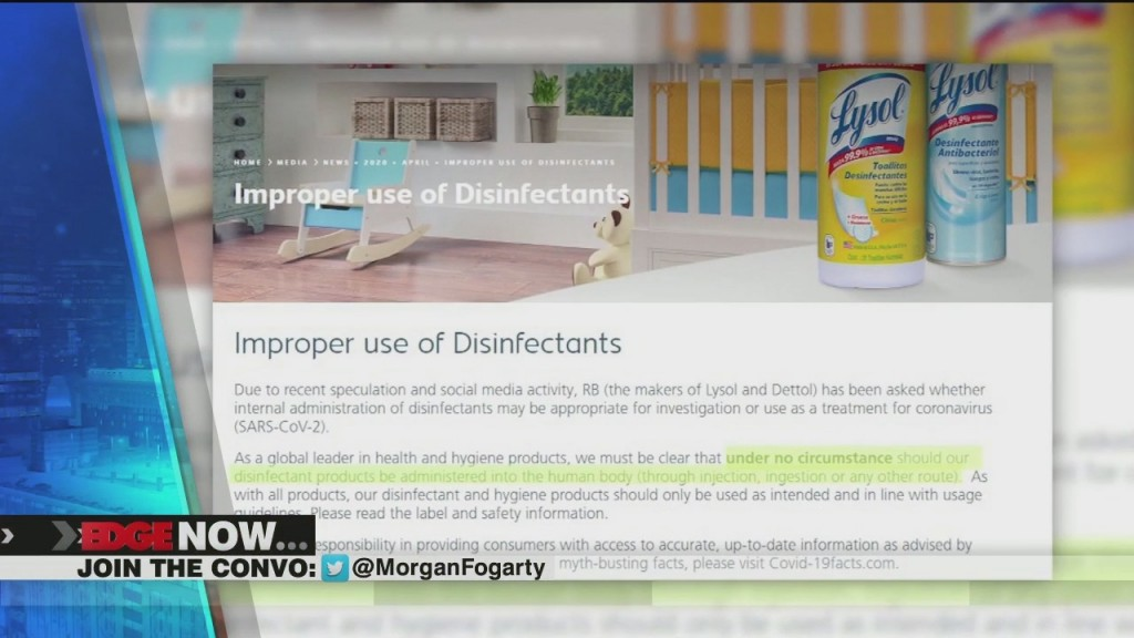 Lysol Issues A Warning