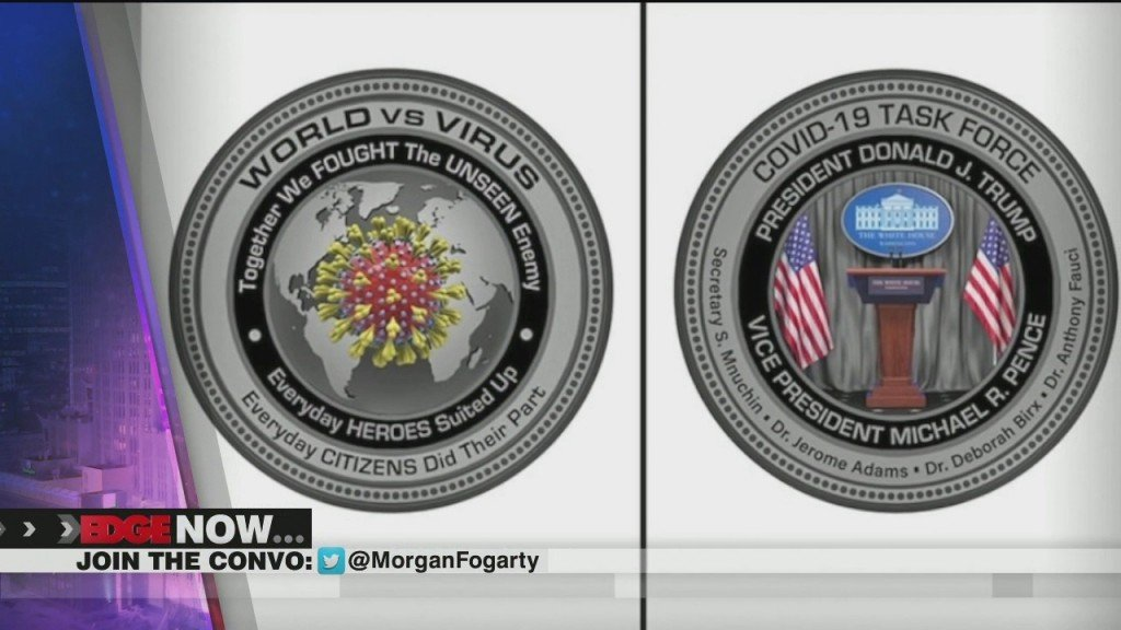 White House Gift Shop Selling Commemorative Covid 19 Coins