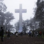 People Gather At The Mount Davidson Cross In San Francisco, April 12, 2020
