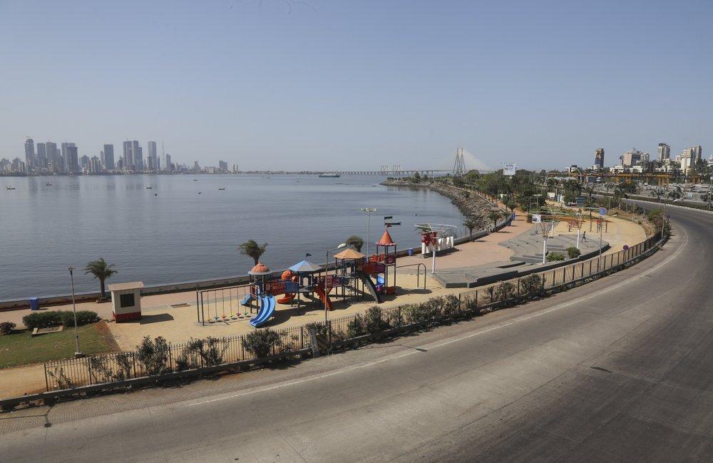 This Photo Shows An Empty Playground In Mumbai, India
