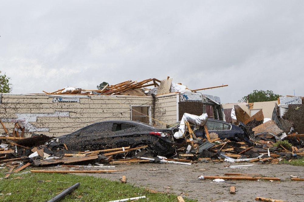 Tornado Damage In Monroe Louisana