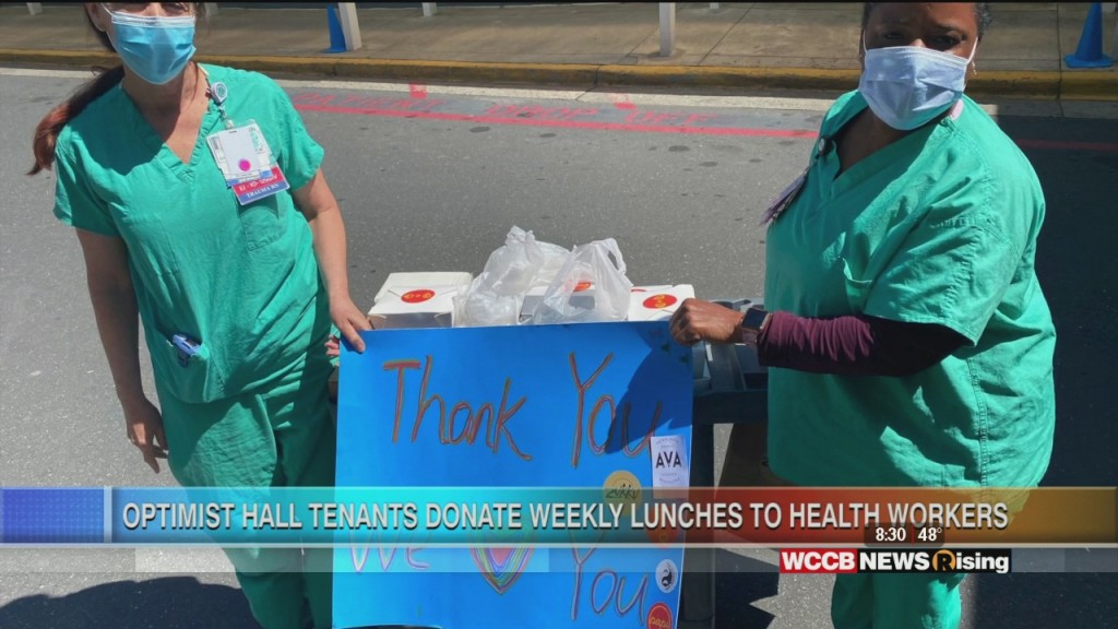Optimist Hall Delivers Food To Health Care Workers
