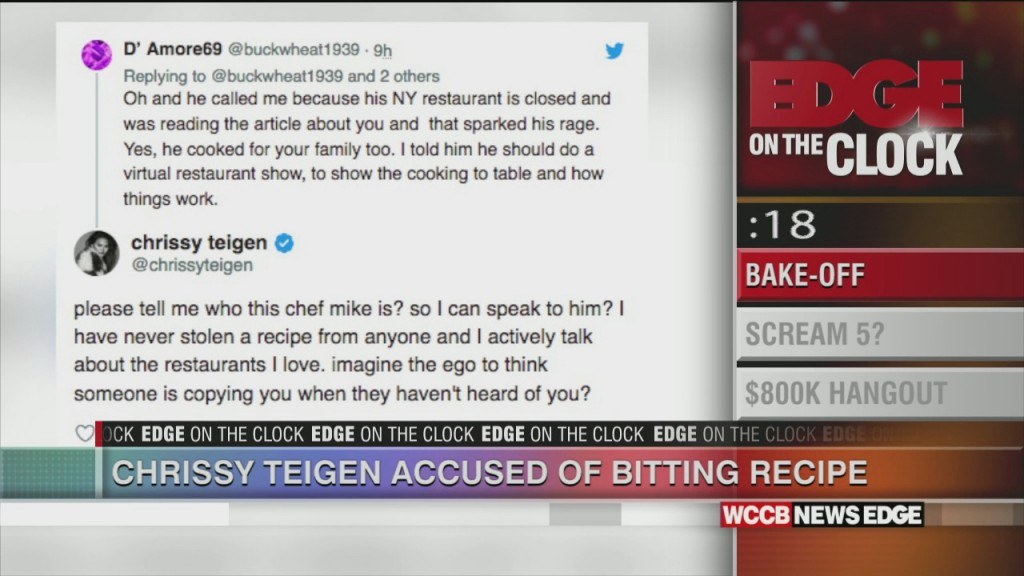 Teigen Accused Of Stealing A Recipe