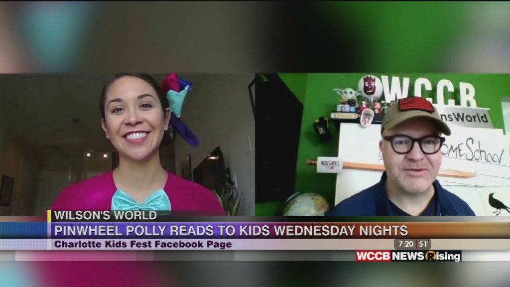 Wilson's World: Video Visits With Pinwheel Polly From Charlotte Kids Fest And Zach The Historian From The Historical Center Of York County