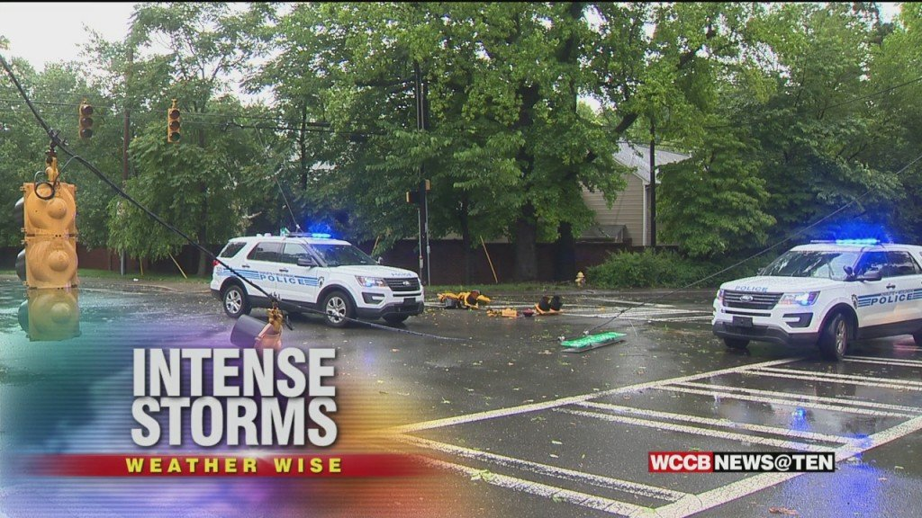 Intense Storms Batter South And East Charlotte