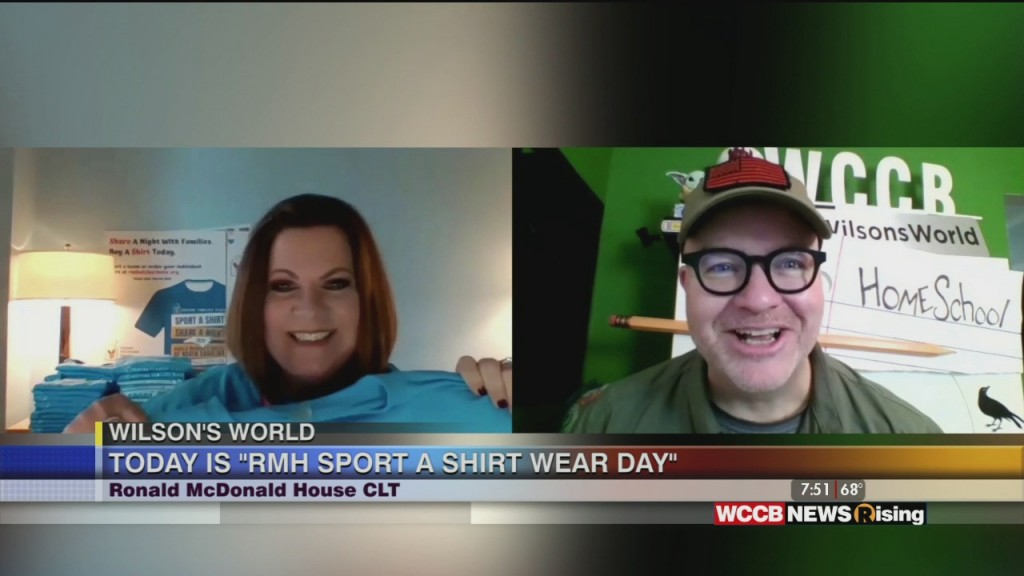 Wilson's World Home School: Ronald Mcdonald House Of Charlotte's Sport A Shirt Wear Day!