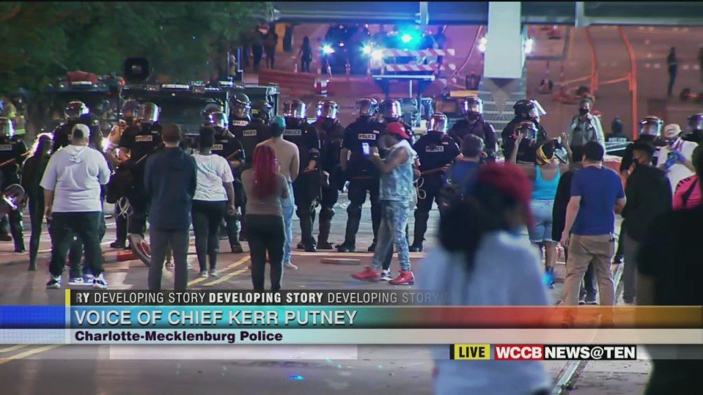 News @ Ten: Charlotte Protests Day 2 Part 5 Cmpd Chief Kerr Putney