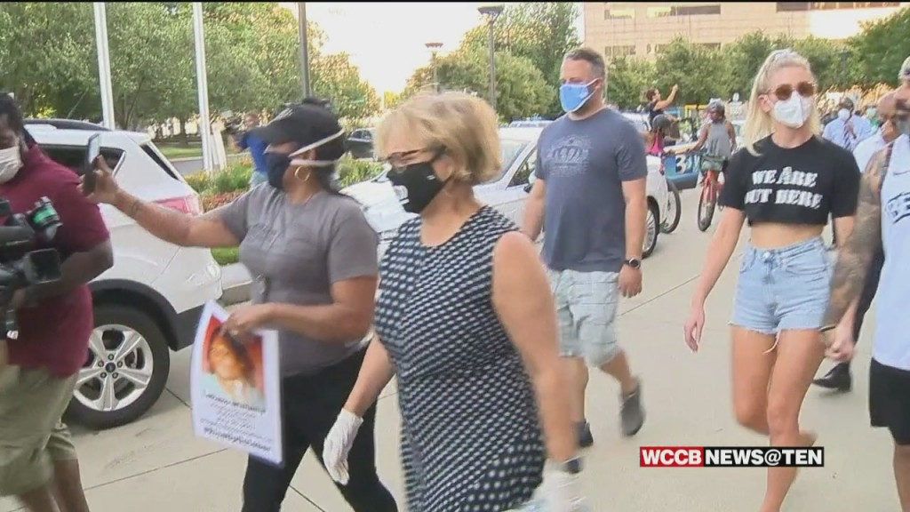 Charlotte City Leaders March With Protestors After A Tense Listening Session