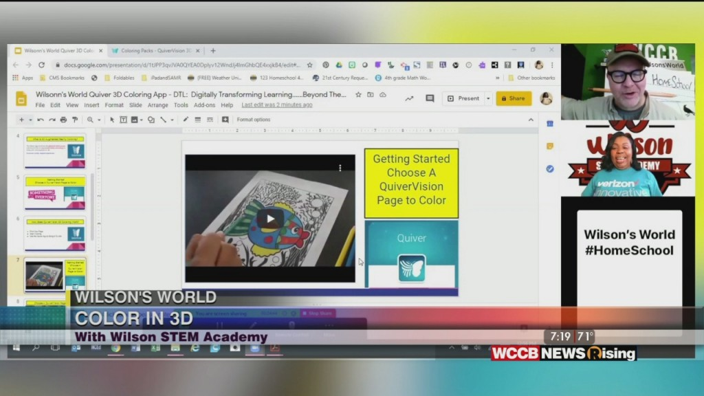 Wilson's World: Homeschool Lesson On Coloring In 3d With Wilson Stem Academy