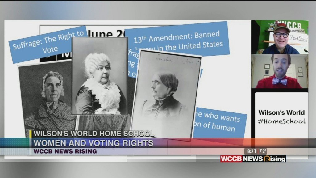 Wilson's World: Learning More About Women's Right To Vote With Zach The Historian's Homeschool Lesson