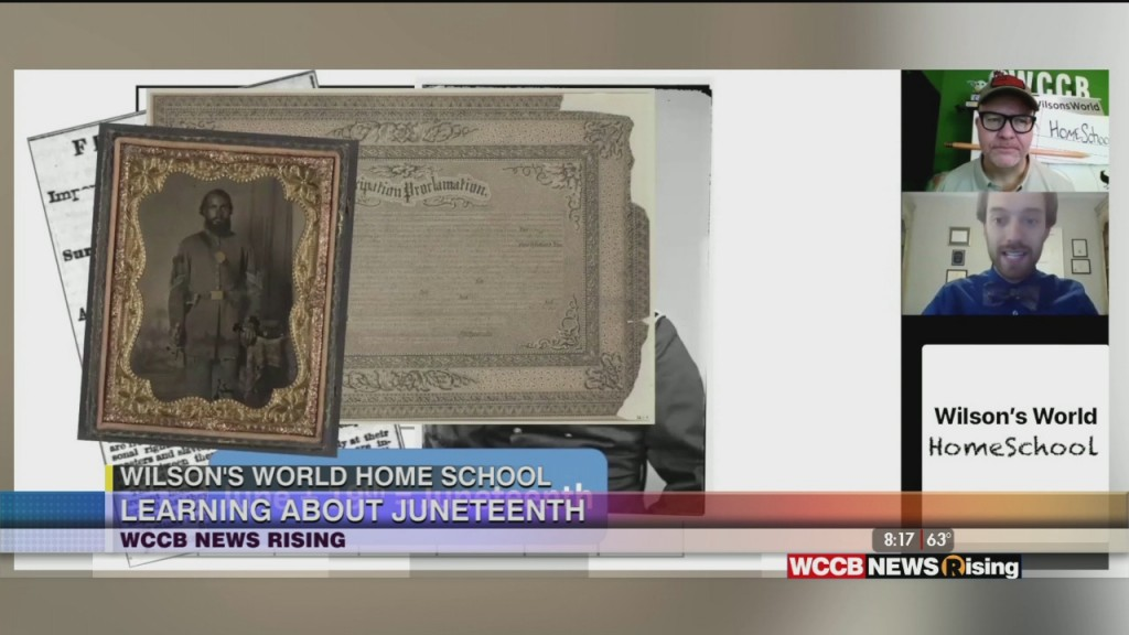 Wilson's World: Learning About Juneteenth With Zach The Historian