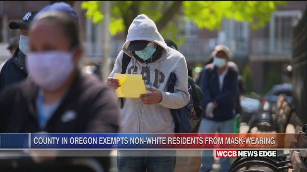 Oregon County Exempts Non White Residents From Wearing Masks