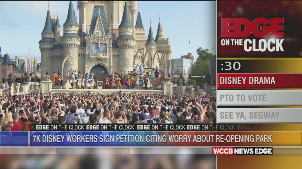Edge On The Clock: Disney Workers Sign Petition Against Reopening Park