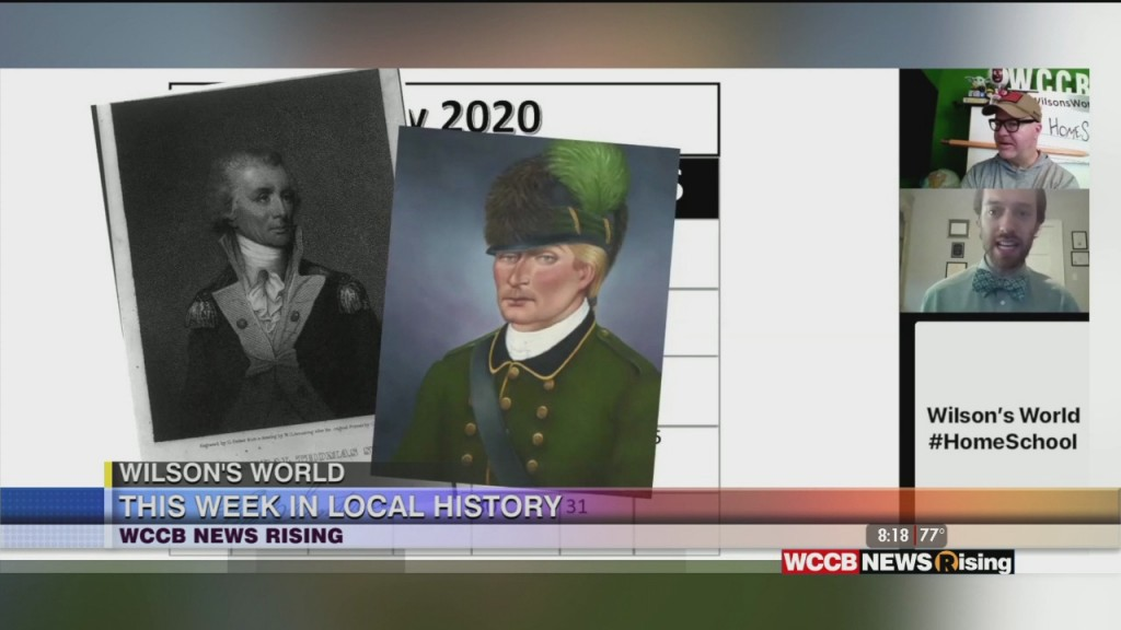 Wilson's World Homeschool: This Week In Local History With Zach The Historian