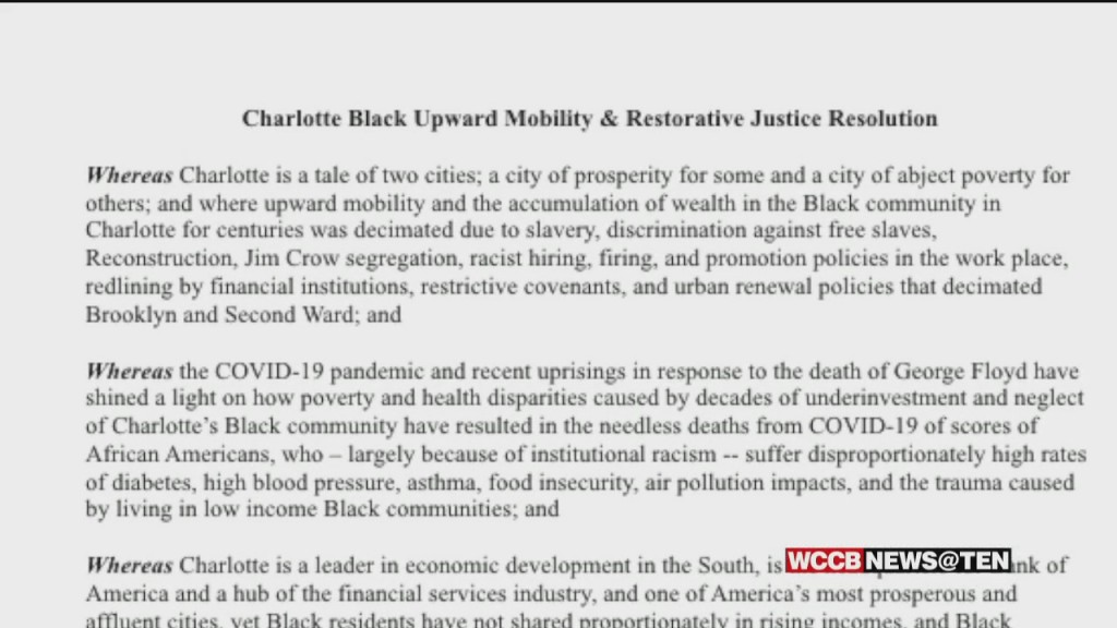 Charlotte City Council To Consider Resolution On Racial Reconciliation