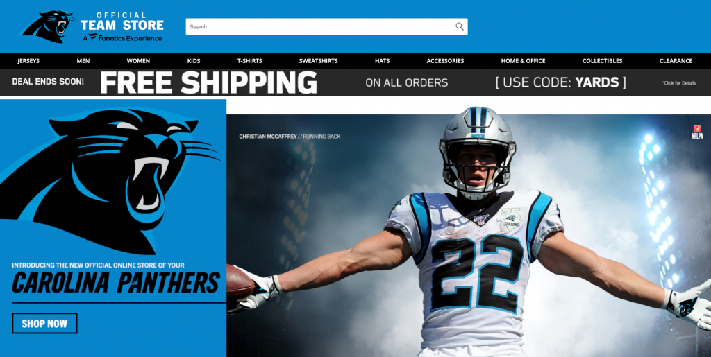 Fanatics Shop Screen Grab
