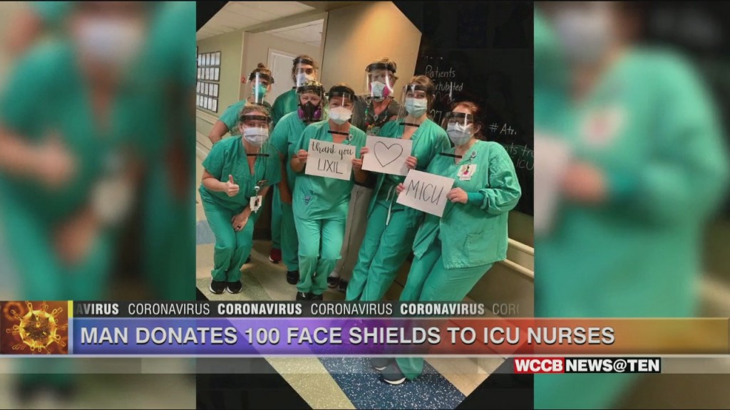 Local Man Donates 100 Face Shields To Icu Nurses