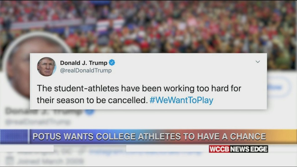 Potus Wants College Athletes To Have A Chance