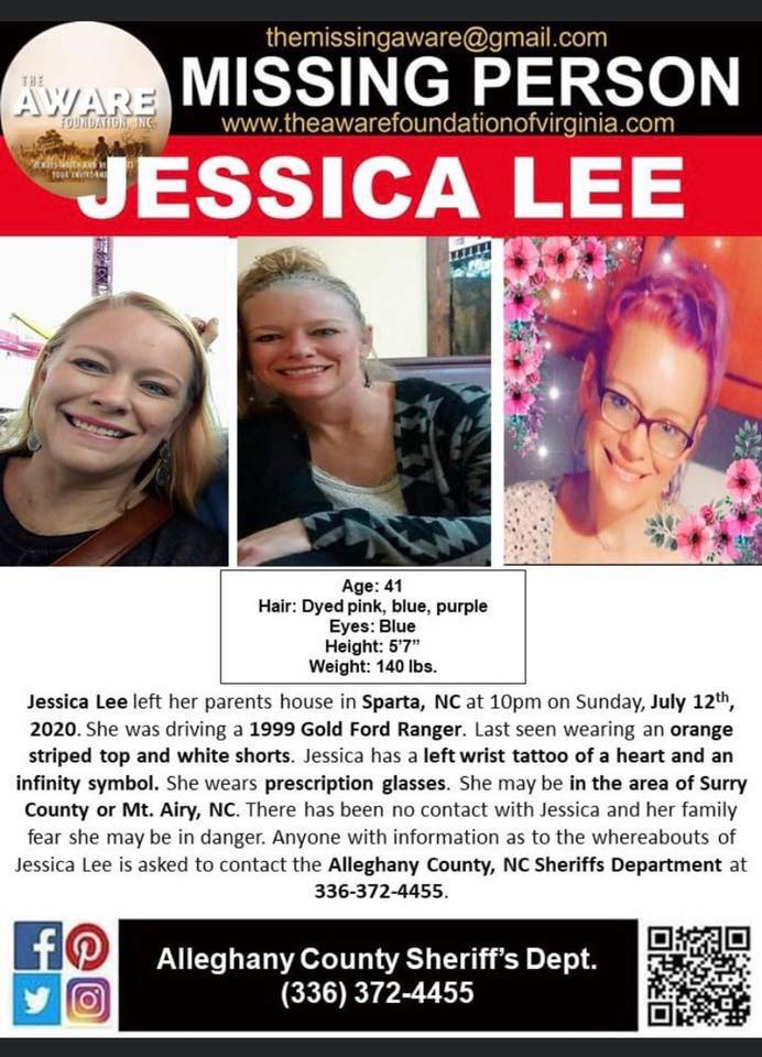 Allegany County Missing Person Jessica Lee