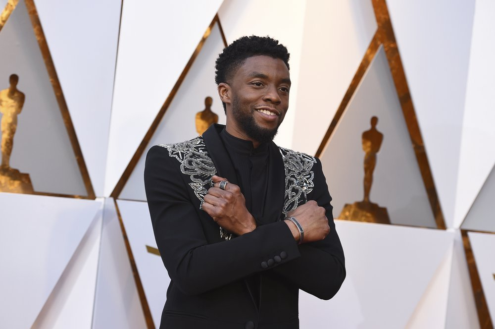 Chadwick Boseman Arrives At The Oscars At The Dolby Theatre In Los Angeles.