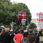 Protesters Monday August 24th 27