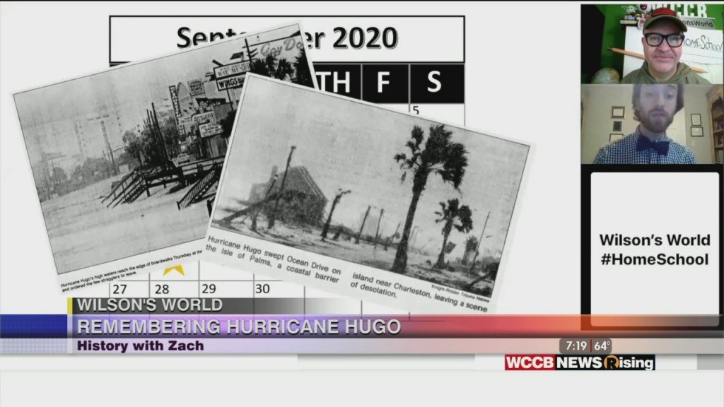 Wilson's World Homeschool: Looking Back On Hurricane Hugo With Zach The Historian
