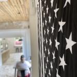 Cu Flag Blurred Background Vertical
