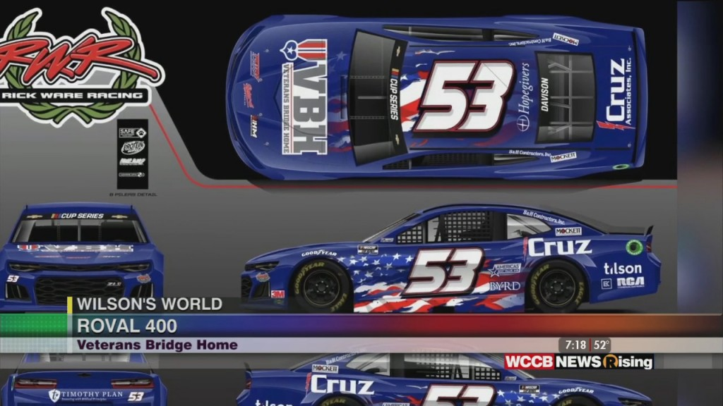 Wilson's World: Rick Ware Racing Team Will Honor Veterans Bridge Home During Roval 400