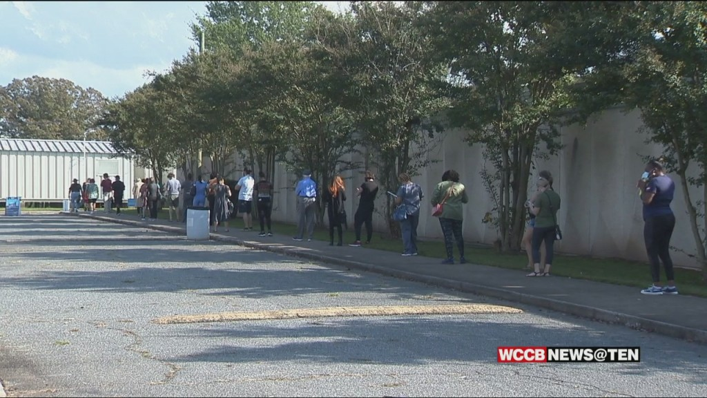 Long Lines On The First Day Of Early Voting