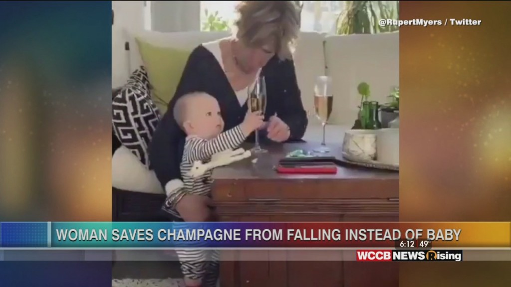 Viral Videos: Woman Saves Champagne Glass Instead Of Baby And Happy Meal Hack