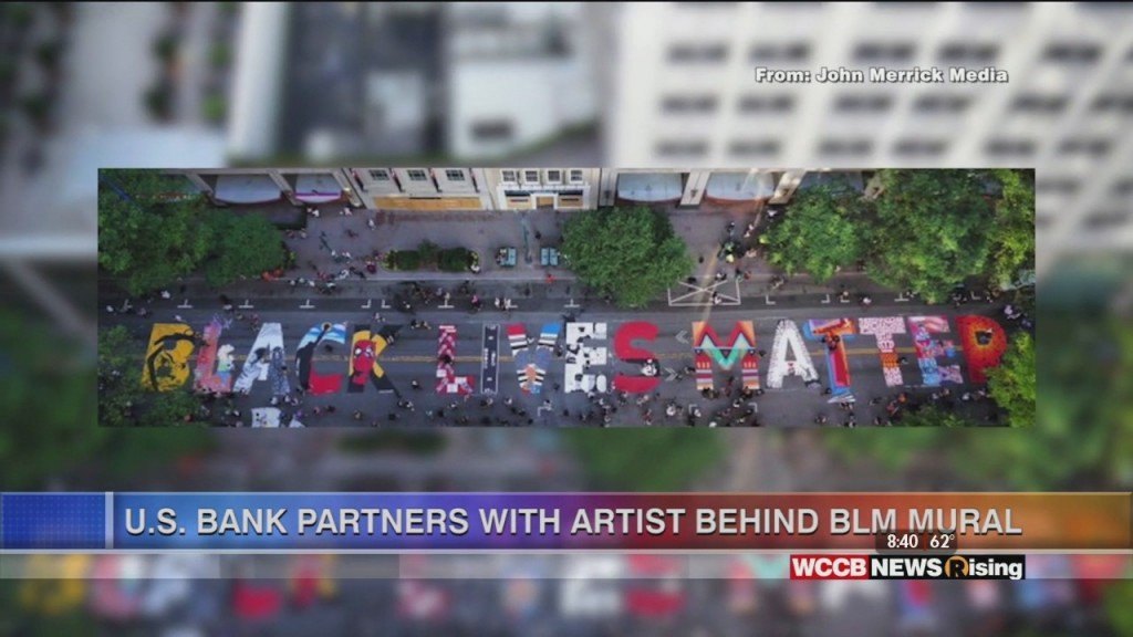 Rising Spotlight: U.s. Bank Partners With Artist Behind Black Lives Matter Mural
