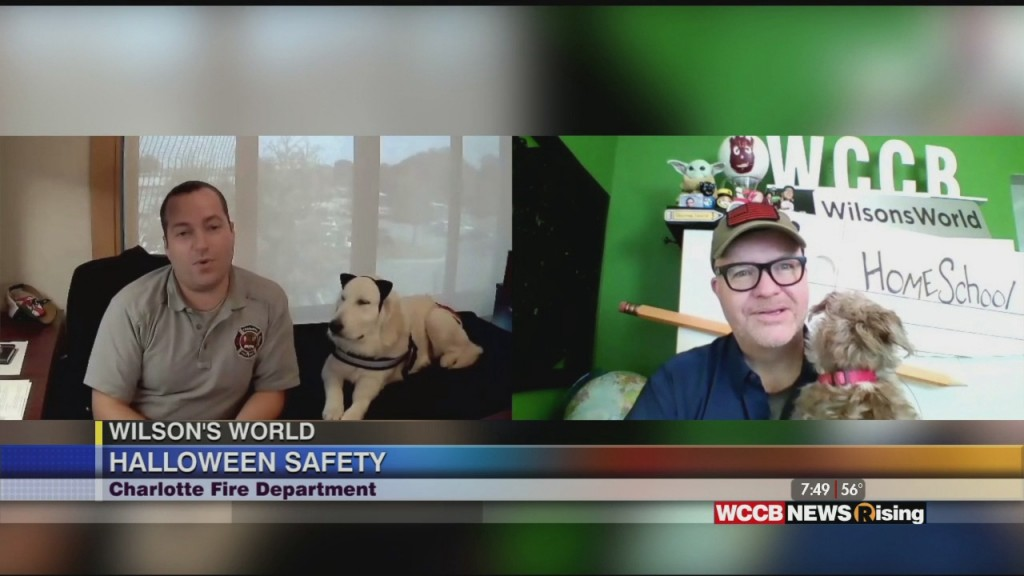 Wilson's World Homeschool: Halloween Fun & Safety With The Charlotte Fire Department And 'cat' The Dog