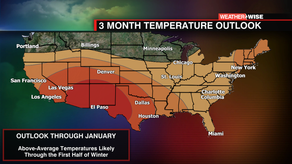 Monthly Outlook Temps Wccb2