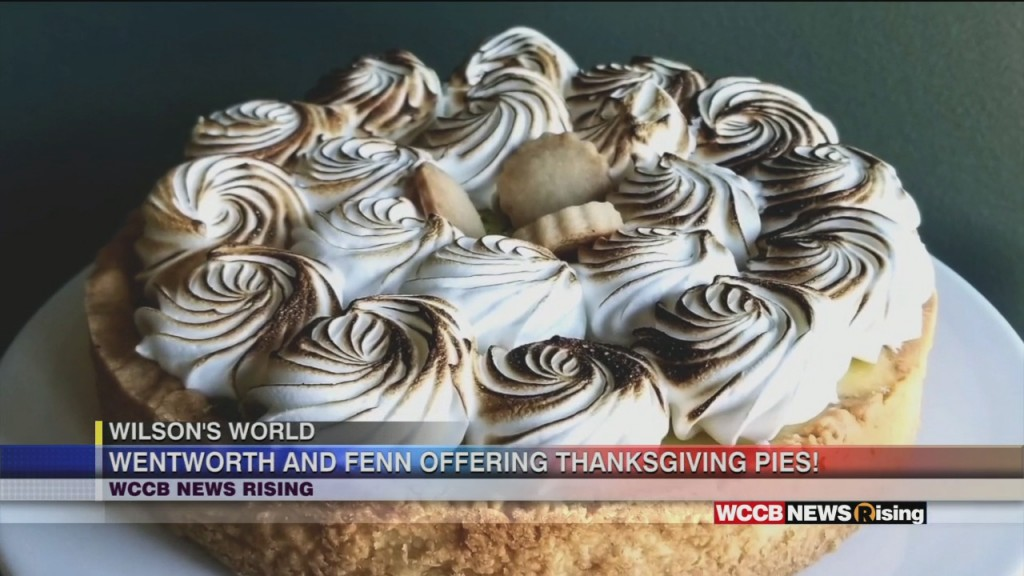 Wilson's World: Lighten Your Thanksgiving Baking List With A Delicious Pie From Wentworth & Fenn Gourmet Bakery