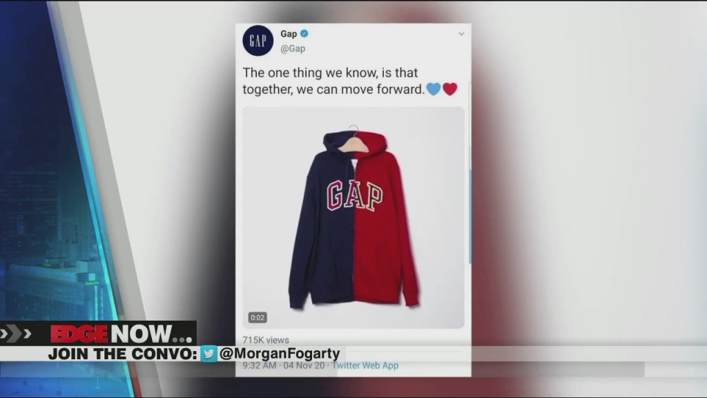 Gap Deletes Photo Of Red And Blue Hoodie